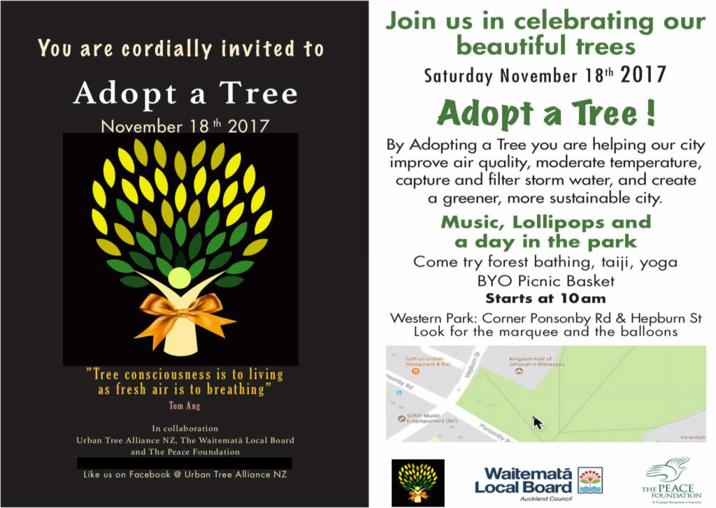 Adopt a Tree flyer